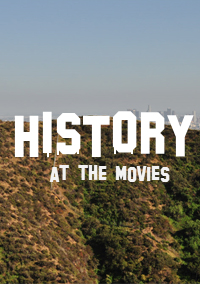 Image of Hollywood Hills with the lettering History as the Movies